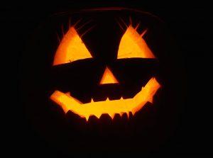 Jack-o-lantern face halloween