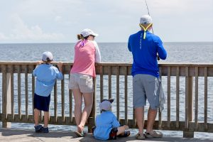 Pier Fishing Family